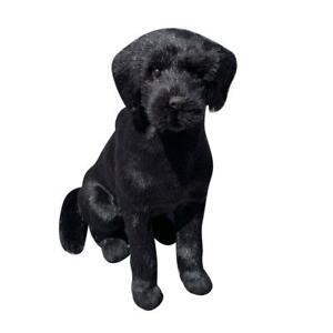 Realistico-Nero-Labrador-Dog-Puppy-Pet-Peluche-simulazione-peluche-bambola-giocattolo