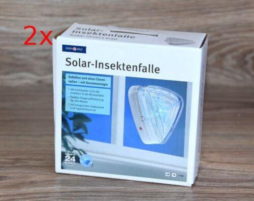2x INSEKTEN SOLAR MÜCKENFALLE DREIECKIG ohne CHEMIE INSEKTENFALLE NACHTLICHT *