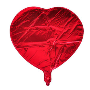 10x-18-034-Folienballon-Herz-Love-Luftballon-Helium-Balloon-Rot-fuer-Hochzeit-Party