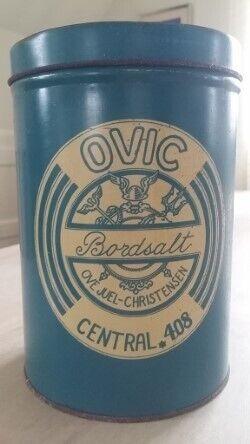 OVIC Bordsalt dåse, Metal - ny nedsat pris