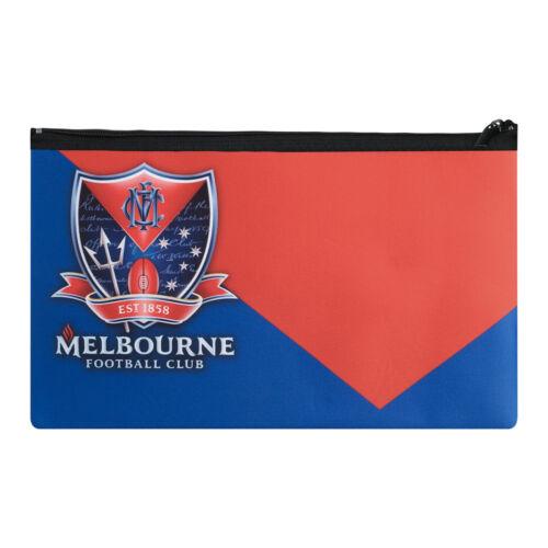 QUALITY LARGE AFL Melbourne Demons Pencil Case School Work stationary Gift SALE