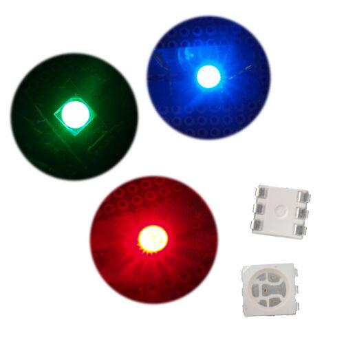 10 x 5050 Power SMT SMD 5V 3 Chips  LED Llight Lamp Blub Bright Red Blue Green