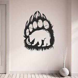 Bear-Paw-Print-Animal-De-Pared-Calcomania-Vinilo-Pared-Arte-Pegatina-Calcomania-Decoracion-Del-Hogar