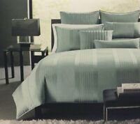 Hotel Collection Bedding, Classic Stripe King Bedskirt, Frost, New, Free Shippin on sale