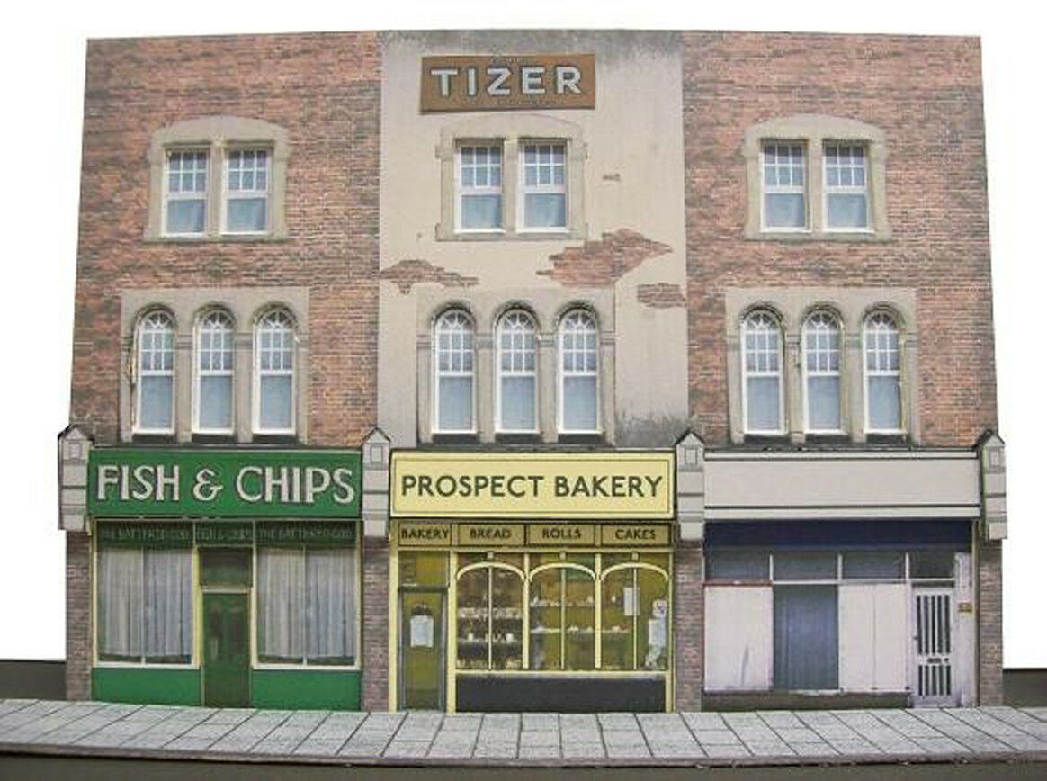 Kingsway, 00 scale, Three high high high street shops, two versions, Kit build service. 0bc46d