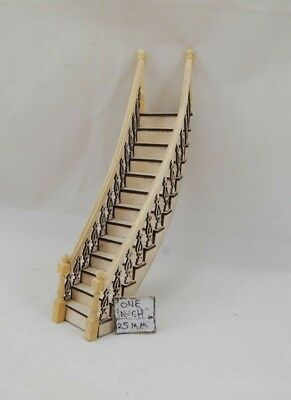 Staircase Kit 1:24 Dollhouse wooden miniature  #H7000 steps Half Scale