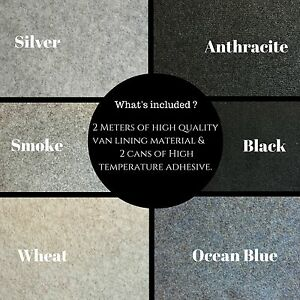 Anthracite Colour |5m Long 1.4m Wide | Self-Adhesive Van Lining Carpet 7 Square Meters |