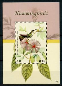 Nevis-2018-neuf-sans-charniere-colibris-WHITE-BELLIED-Emerald-1-V-S-S-Oiseaux-Timbres