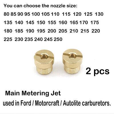 2 PACK FORD AUTOLITE MOTORCRAFT CARBURETOR JETS SIZE 52 2100 2150 4100 4300