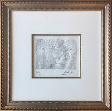 Pablo Picasso Original 347 Series Signed Etching - Raphaël et la Fornarina. XXII