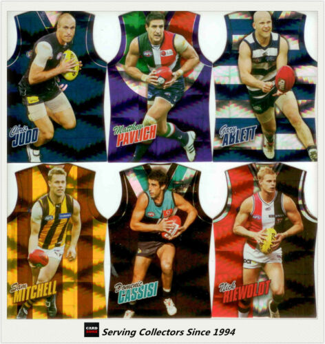 2010 Select AFL Champions Holofoil Jersey Die Cut Parallel Card Full Set 195