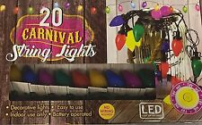 20 LED Carnival Party String Lights - Battery Operated - Muticoloured