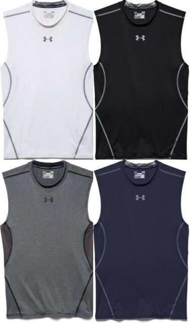 7494750b1522a Under Armour 1257469 Men s Carbon UA HeatGear Sleeveless Compression ...