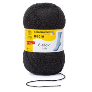 6,30€//100g Regia Sockenwolle 6fädig 150g schnell gestrickt  00522 anthrazit