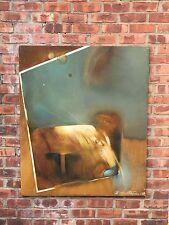 Warsaw Poland Artist Barbara Przyluska Oil On Canvas Painting. Signed. 1989