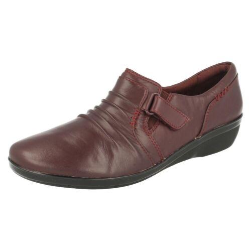 Casual O Zapatos Negro Cuero Burdeos Everlay Mujer Coda Clarks Pantalones IwpBqq