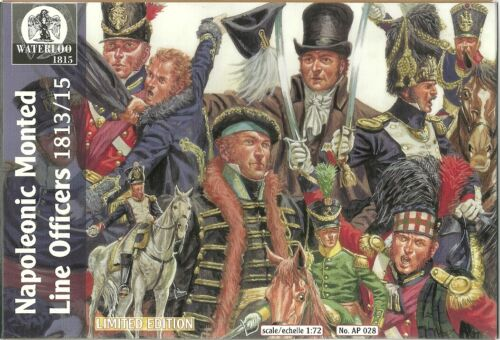 Napoleonic Monted Line Officers 1813 15-1:72 Waterloo 1815-028