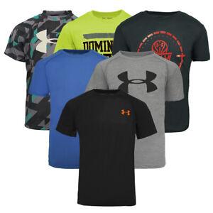 Under-Armour-Boys-039-Mystery-Tech-T-Shirt-M