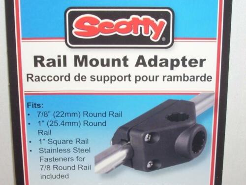 Scotty #242 Rail Mount Adapter For Rod Holder 7//8″ Round or 1″ Square