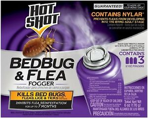 Hot Shot Bedbug - Flea Fogger 3 ea (Pack of 2)