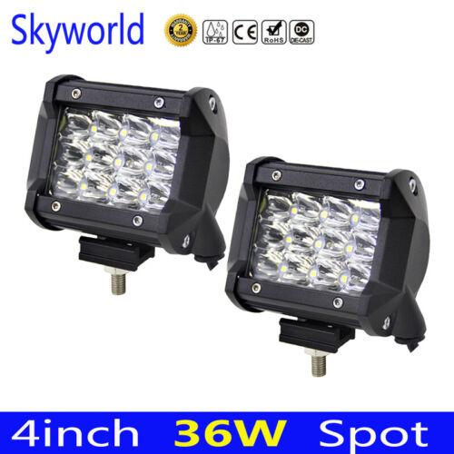 2pcs 36W 4 inch 7D LED Car Work Light Bar SUV Boat Driving Offroad ATV Lamp 2x