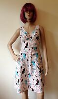 Vintage 60s 70s Scooter Dress Mod Mini Gogo Size 8 10 Small Pink Floral