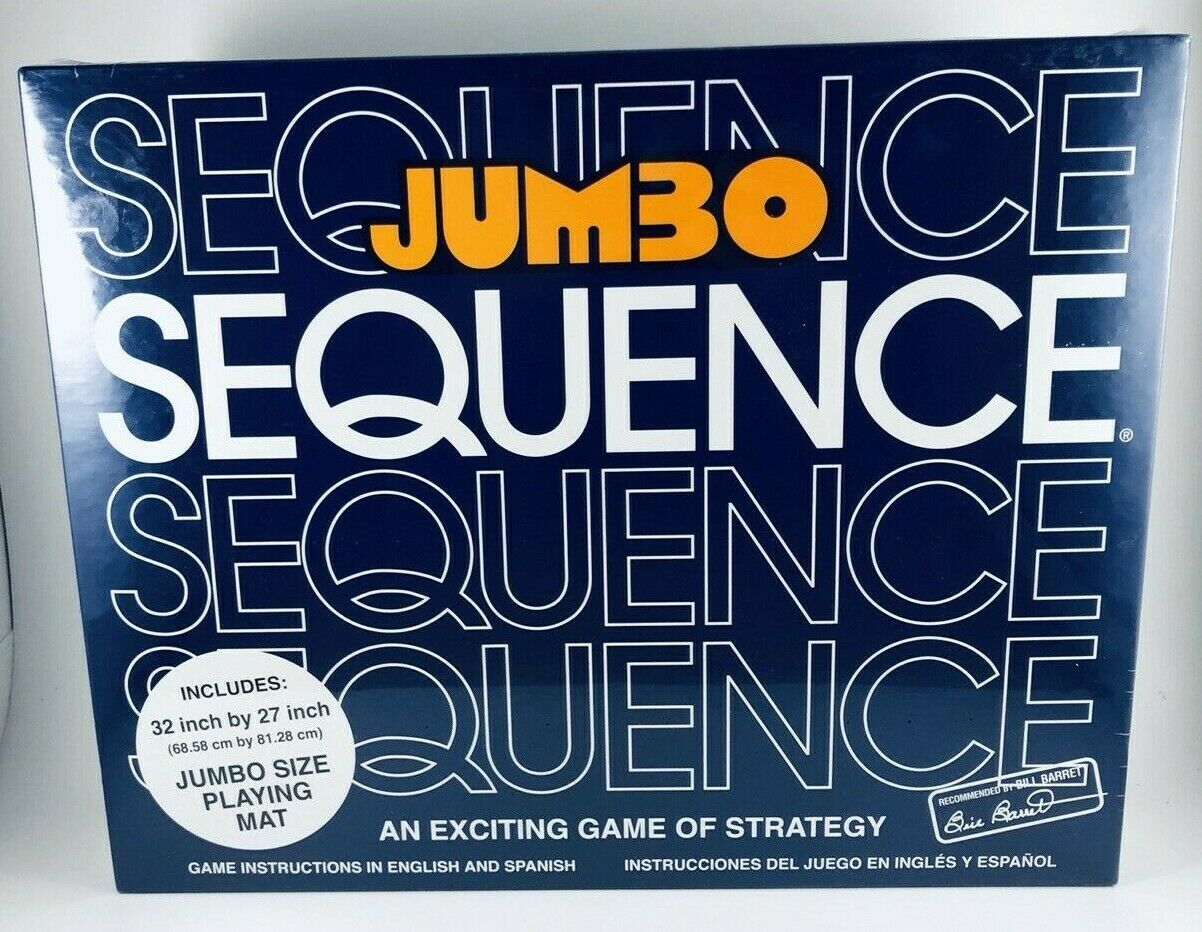 Jumbo Sequence Box Edition Ages 7 - Adult for 2 to 12 players