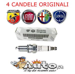 KIT 4 CANDELE ORIGINALI FIAT BRAVO 1.4 T-JET 55249868 = NGK IKR9J8