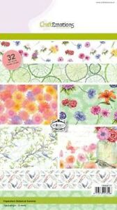 Craft-Emotions-A5-Papel-apilable-32-HOJAS-verano-Botanico-0107