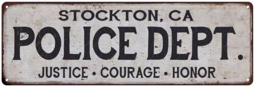 CA POLICE DEPT Home Decor Metal Sign Gift 106180012053 STOCKTON