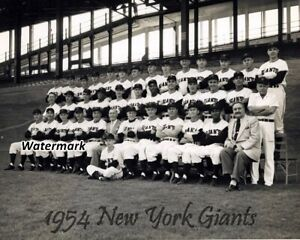 MLB-1954-New-York-Giants-Team-Picture-Black-amp-White-8-X-10-Photo-Pic