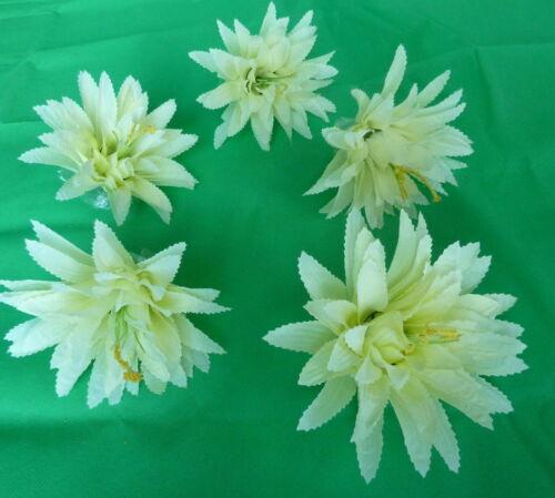 5 x Agave Blumenköpfe   Blüten  creme  Kunstblumen Seidenblumen