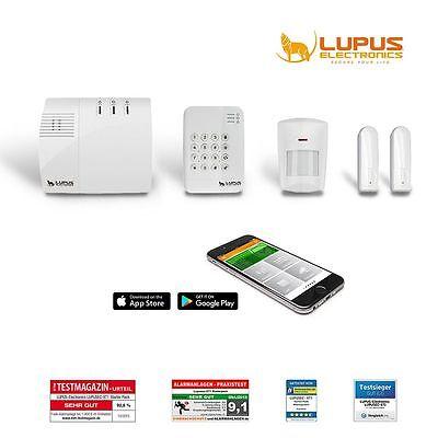 LUPUSEC XT1 Starter Pack IP Funk Alarmanlage LUPUS 12017 Smart Home Alarmsystem