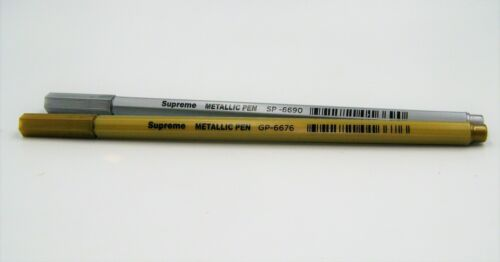 NEW 1 or 2 SILVER or GOLD METALLIC MARKER WRITING PENS 1mm NIB SUPREME