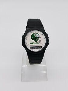 Vintage-Casio-NFL-EAGLES-digital-analog-men-039-s-watch-NL-02-308