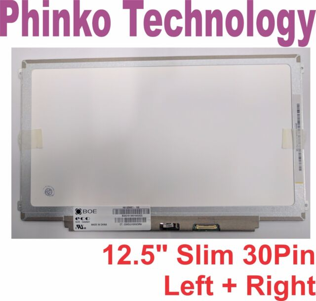 """12.5"""" Laptop LCD LED Screen panels Display HB125WX1-100 Slim 30 pin Left + Right"""