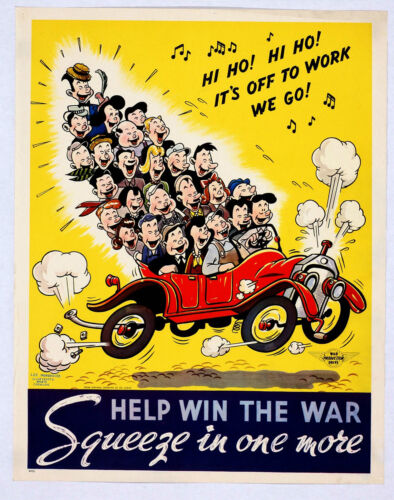 A3//A4 Size HELP WIN THE WAR SQUEEZE IN WORLD WAR 2 VINTAGE ART  POSTER  # 16