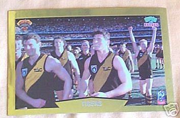 1997 Tatts Pokies Super Shots AFL Chromium Magic Moment CARLTON