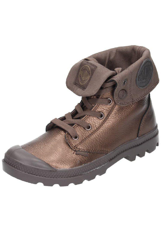 ti renderà soddisfatto Donna  Palladium stivali Baggy Metallic Metallic Metallic Leather Copper Metallic   Chocolate  garanzia di qualità
