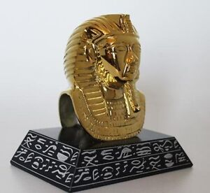 5-034-Egyptian-Brass-and-Natural-Stone-Sculpture-of-King-Tut-Hand-Carved-246