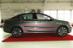 Body-Side-Mouldings-Door-Molding-Protector-Trim-Black-for-Fiat-Tipo-2016