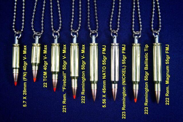 Bullet Necklace Pendant Charm w/ 30