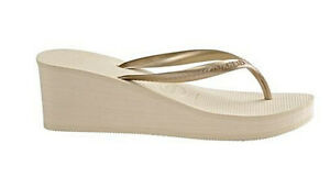 260b048d9f1030 Havaianas Women`s Flip Flops High Fashion Beige Wedge Sandal 2 1 2 ...