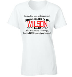 Wilson Family T-Shirt Surname U can use any name Custome 70th 60th 30th Birthday