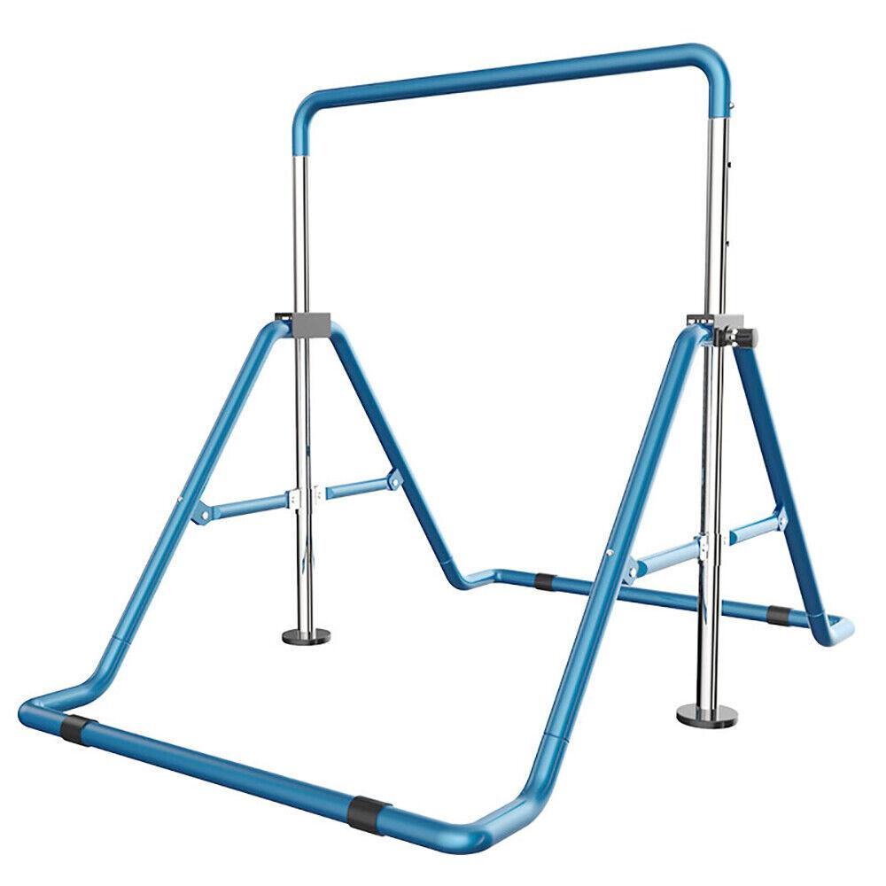 Horizontal Bar Gymnastics Kids Home  Training Bar Sport Equip Folding Kip bluee  order now lowest prices