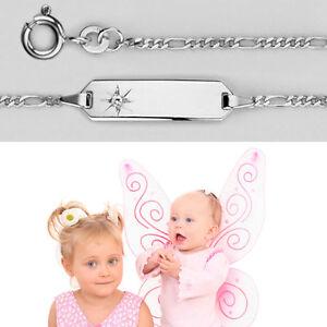Shop für Beamte 60% Freigabe Gutscheincodes Details zu Baby Kinder Zirkonia Stern Armband Echt Silber 925 mit Gravur  von Name und Datum