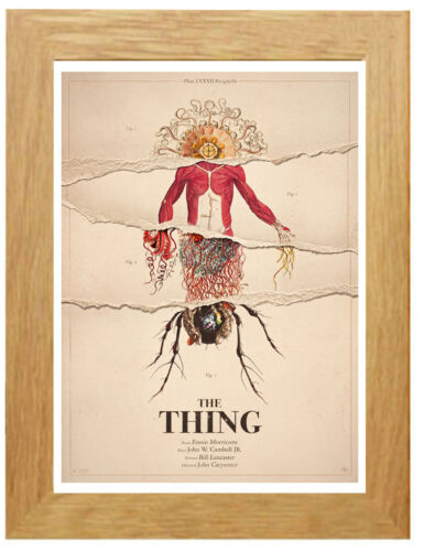 Framed Option A3 A4 The Thing Classic Movie Poster Canvas Art Print