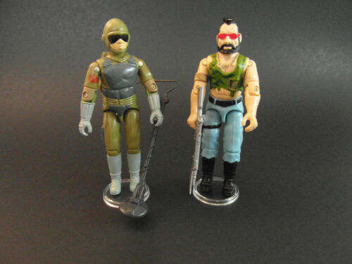 20 x Gi Joe Action Figure Display Stands for vintage CHIFFRES CLAIRS-T6c