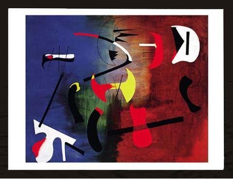 Joan Peinture Gemälde Druck Grösse 80x60 Kunstdruck Artprint Miro
