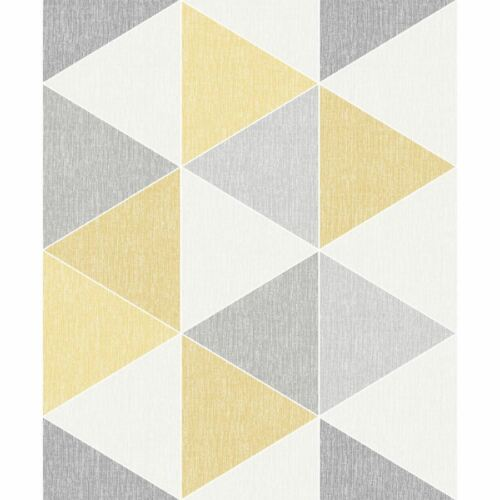 Arthouse Scandi Triangle Abstract Triangle Shapes Yellow Wallpaper 908206